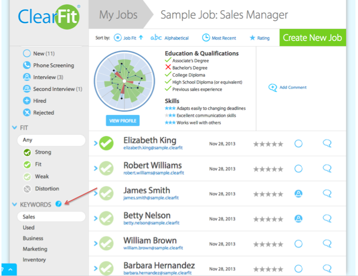 resume keyword tool